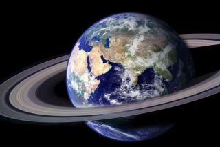 Artist's interpretation of a moon-less Earth.