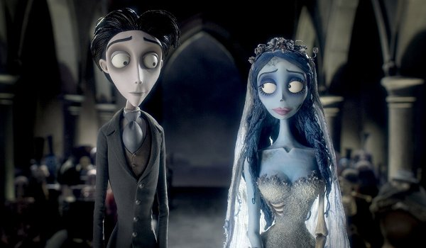 Corpse Bride Victor and the Corpse Bride at the altar