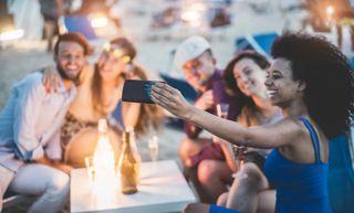 Friends take a selfie