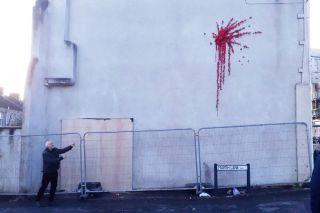 Banksy Bristol Valentine's Day vandalism