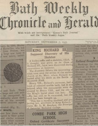 King Richard III false discovery