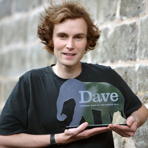 Rob Auton, the winner of Dave'™s Funniest Joke of the Fringe award in 2013.