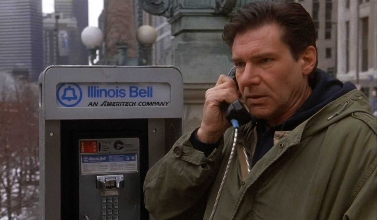 The Fugitive Harrison Ford on a pay phone