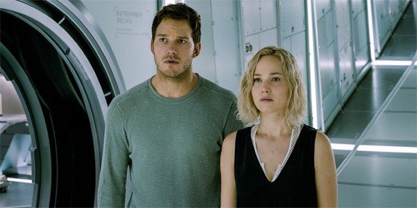 passengers chris pratt and jennifer lawrence