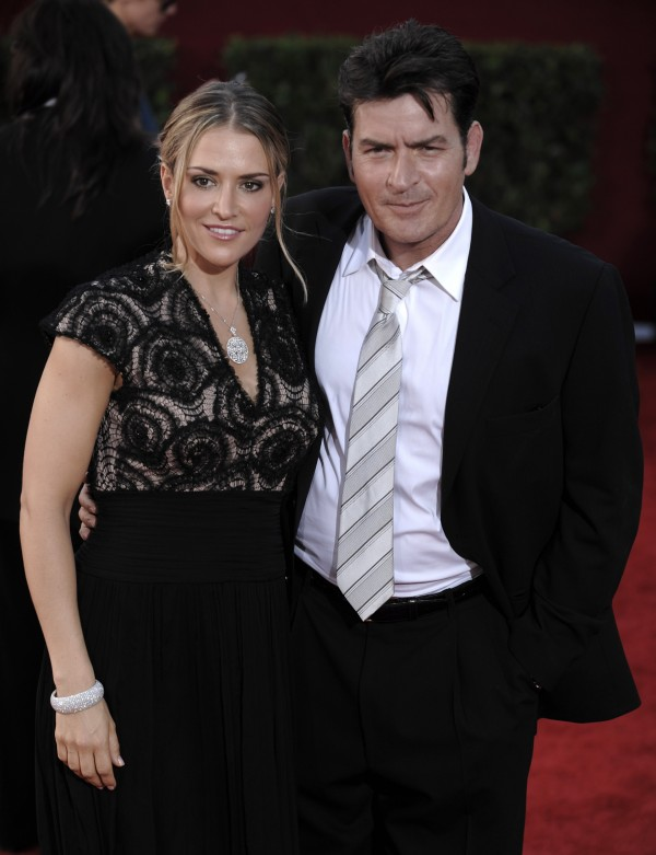 Charlie Sheen and Brooke Mueller (Chris Pizzello/AP)