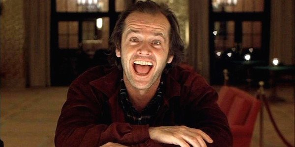 The Shining movie Jack Nicholson laughing