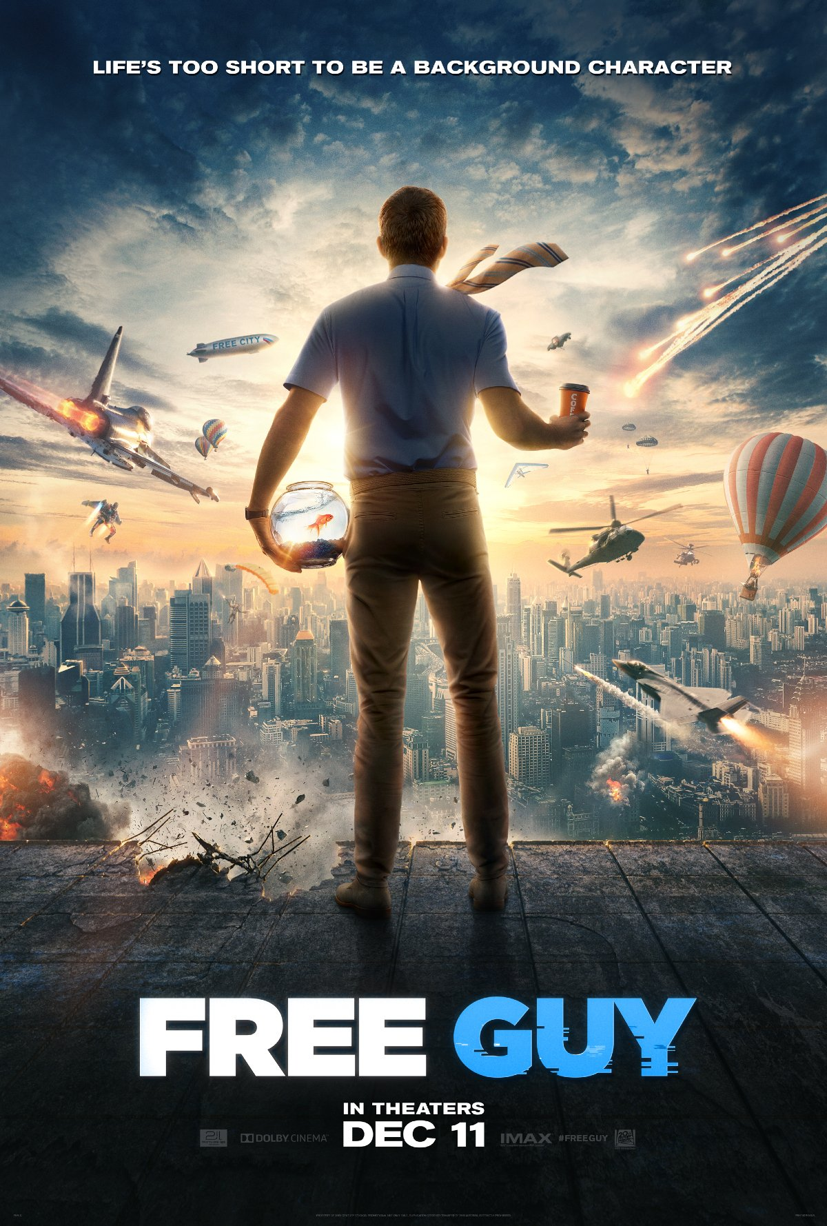 Free Guy new theatrical poster