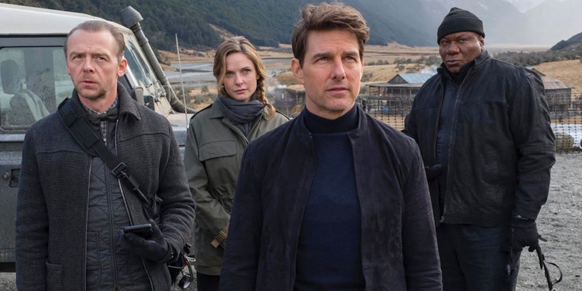 Simon Pegg, Rebecca Ferguson, Tom Cruise, Ving Rhames in Mission Impossible Fallout