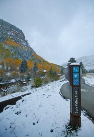 Vail snow and fall color