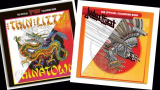 Megadeth and Thin Lizzy colouring books