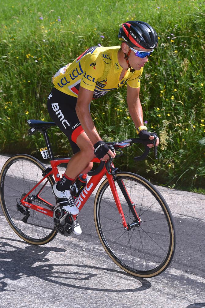 Richie Porte (BMC) on the Col de Sarenne at Criterium du Dauphine.