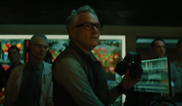 Godzilla: King of the Monsters Rick manning his station and looking at something impressive