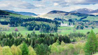 Blair Castle is set amid beautiful Glen Tilt