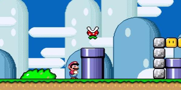 Mario and Piranha Plant from Super Mario World