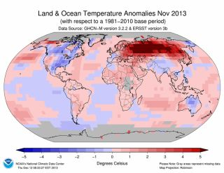 global temperatures in november 2013