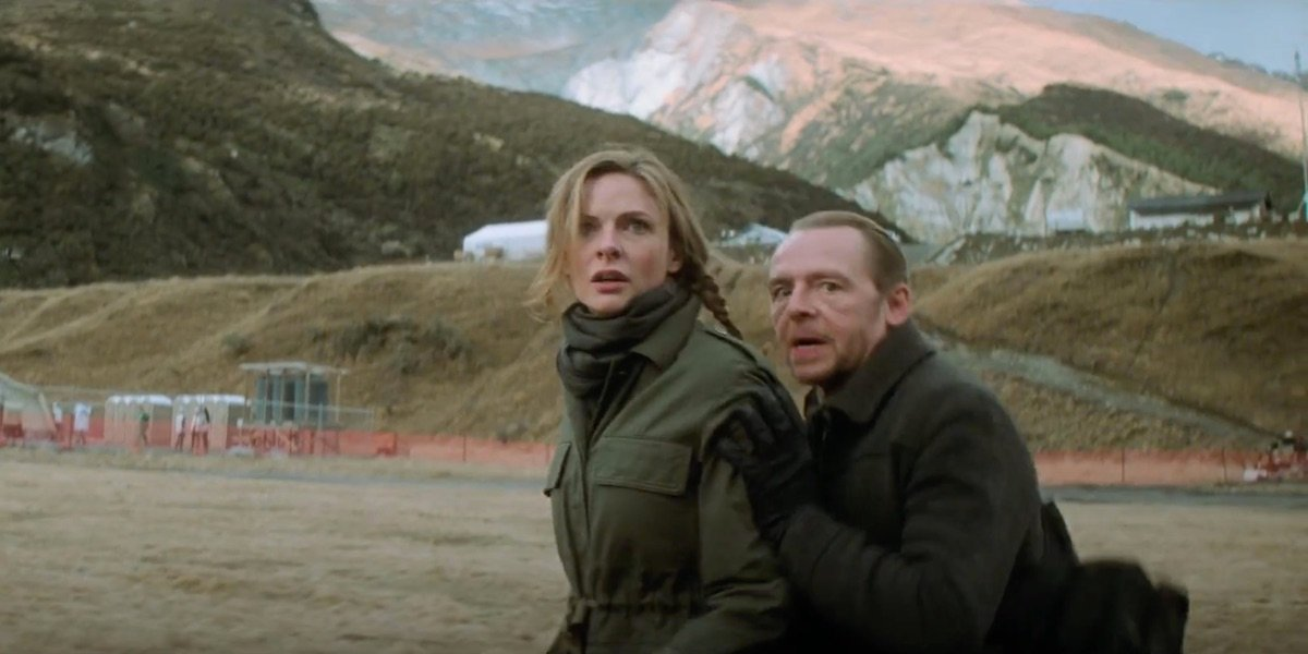 Rebecca Ferguson and Simon Pegg in Mission: Impossible - Fallout