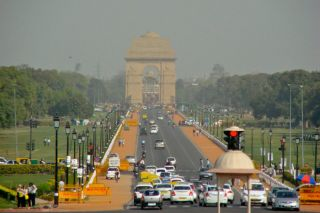 Smog at India Gate, pollution