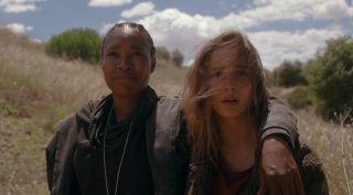 Toya Turner as Shotgun Mary and Alba Baptista as Ava Silva in Warrior Nun on Netflix.