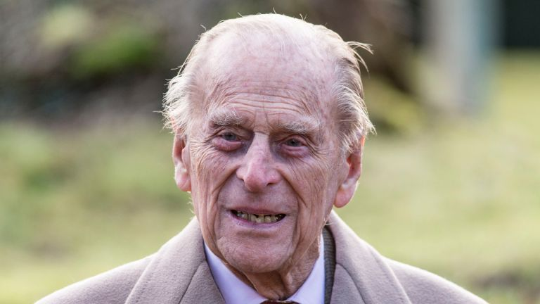 Prince Philip, Duke of Edinburgh attends Sunday Service at St Peter and St Paul Church in West Newton on February 4, 2018 in King's Lynn, United Kingdom
