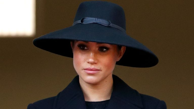 How Meghan Markle will honor Prince Philip, Meghan, Duchess of Sussex attends the annual Remembrance Sunday service at The Cenotaph on November 10, 2019 in London, England.