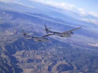 SpaceShipTwo Mothership Makes Fastest Test Flight