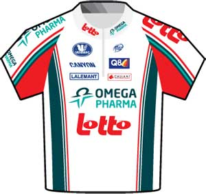 Omega-Pharma Lotto jersey Tour de France 2010
