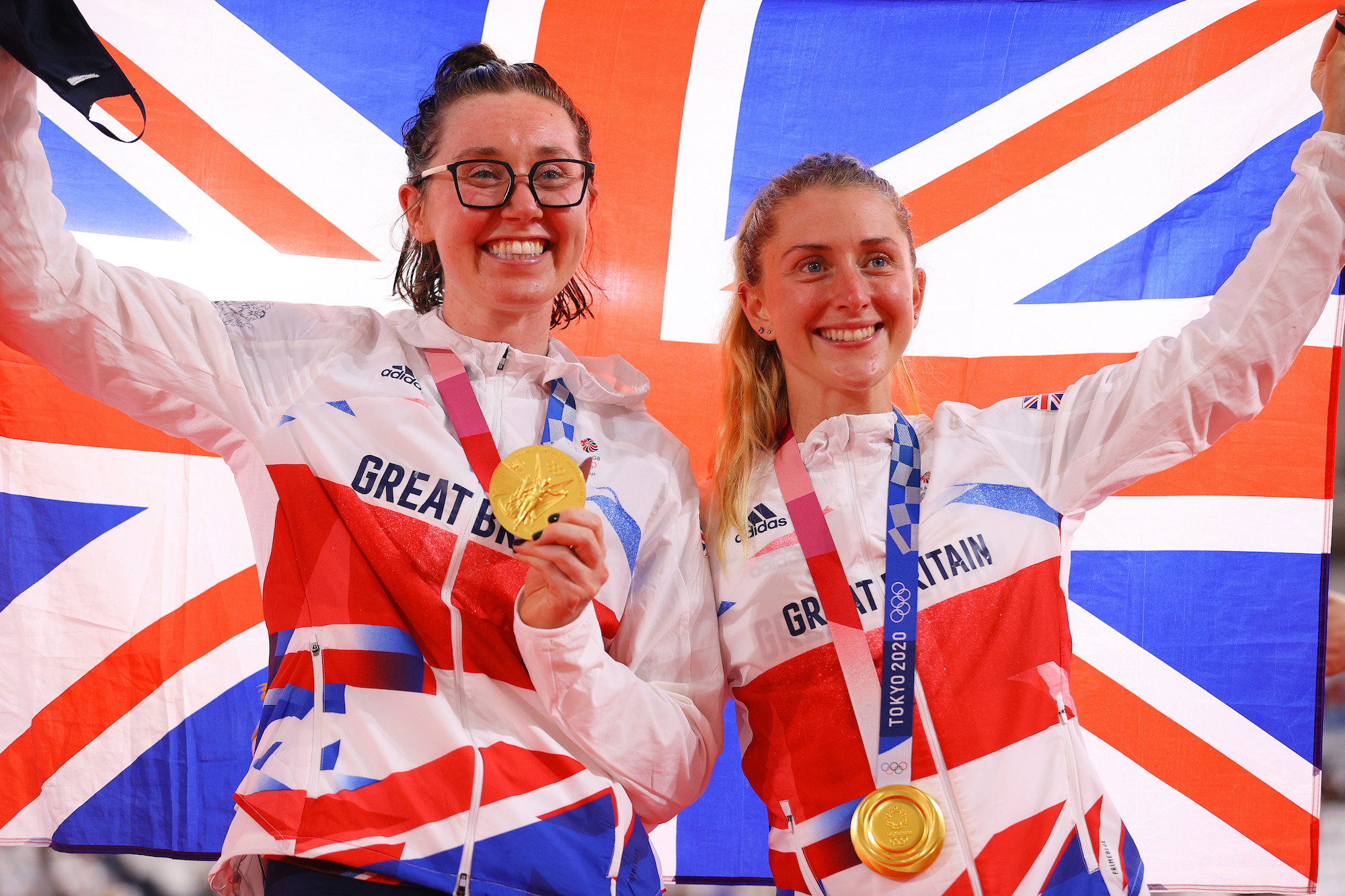 Katie Archibald (left) and Laura Kenny