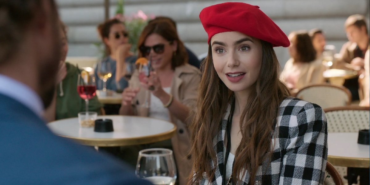 Lily Collins as Emily Cooper in Emily In Paris.