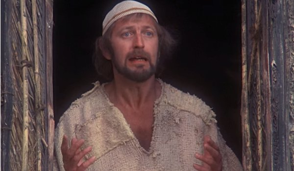 Monty Python's Life of Brian Brian in the window looking exasperated