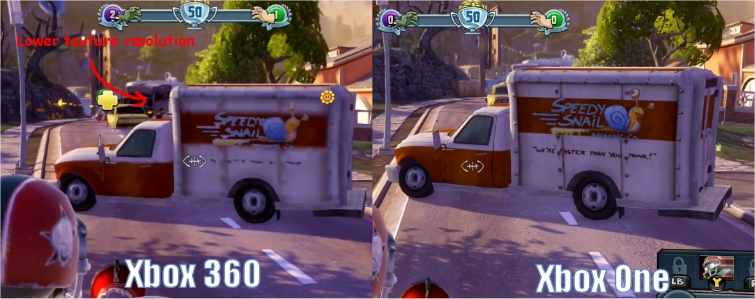 In Plants Vs Zombies Garden Warfare The Resolution Disparity Isn T Too Bad However 900p Upscaled To 1080p Versus Native 720p