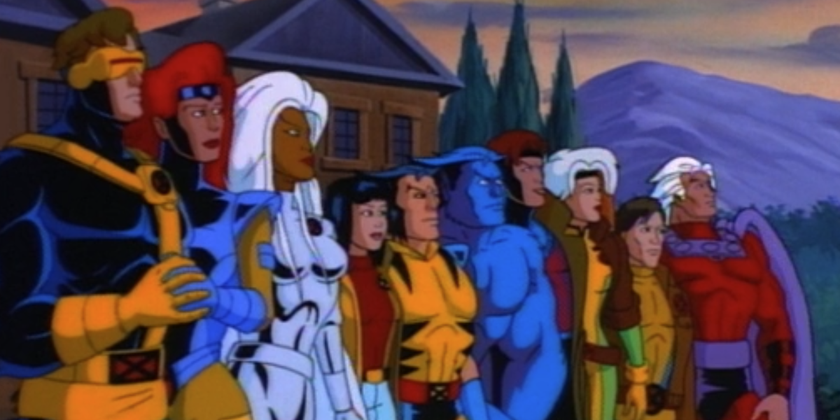 The X-Men assembled in the cartoon series
