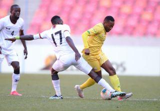Lebohang Maboe challenged by Augustine Kabaso Mulenga