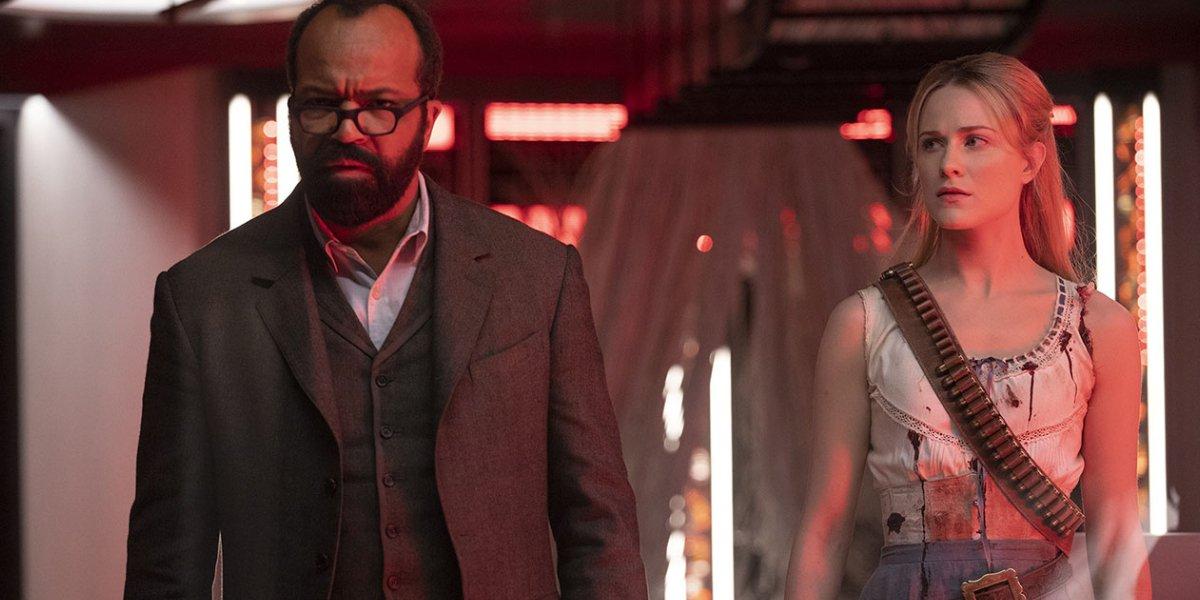 Jeffrey Wright and Evan Rachel Wood in Westworld