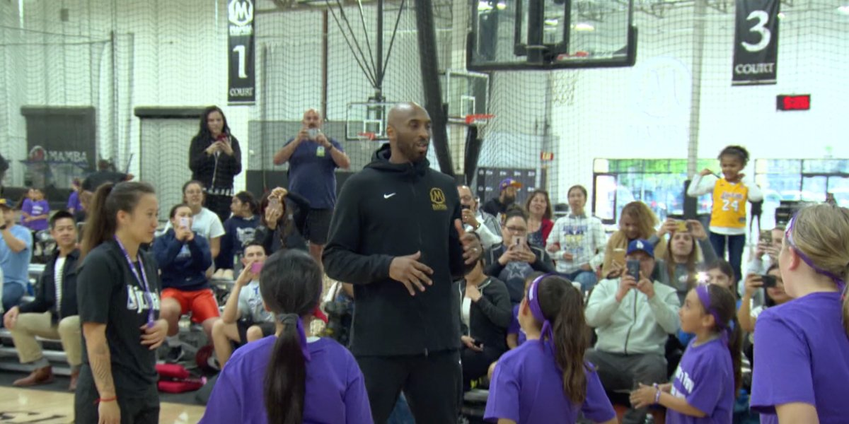 Kobe Bryant at his Mamba Academy in Kobe: Father, Husband, Legend