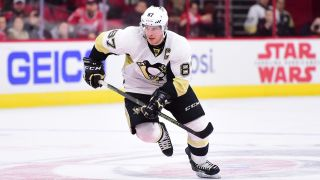 Sidney Crosby (87) of the Pittsburgh Penguins during a regular season game