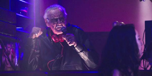 Stan Lee as a DJ in Deadpool
