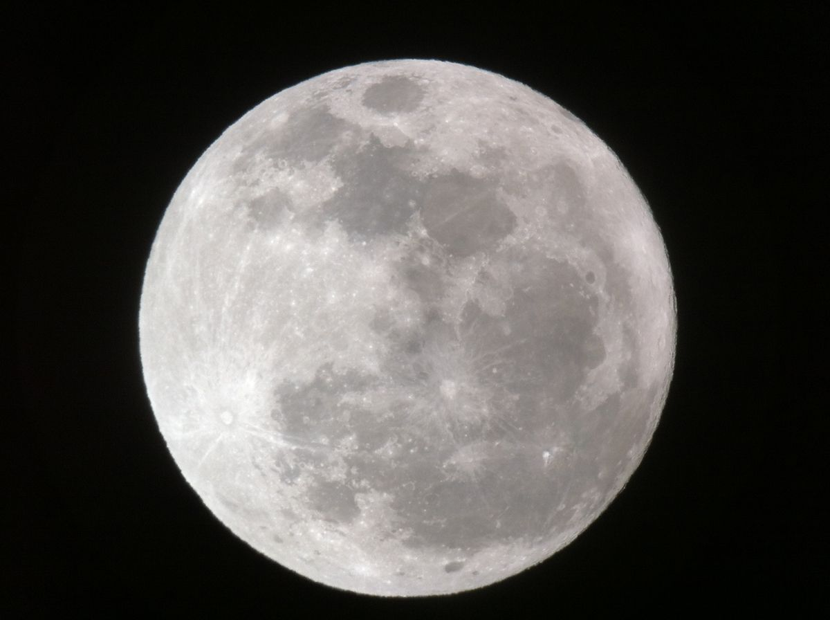 Full Moon Dominates Planet-Filled Night Sky Tonight
