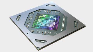 AMD Radeon RX 6700 XT GPU render up close