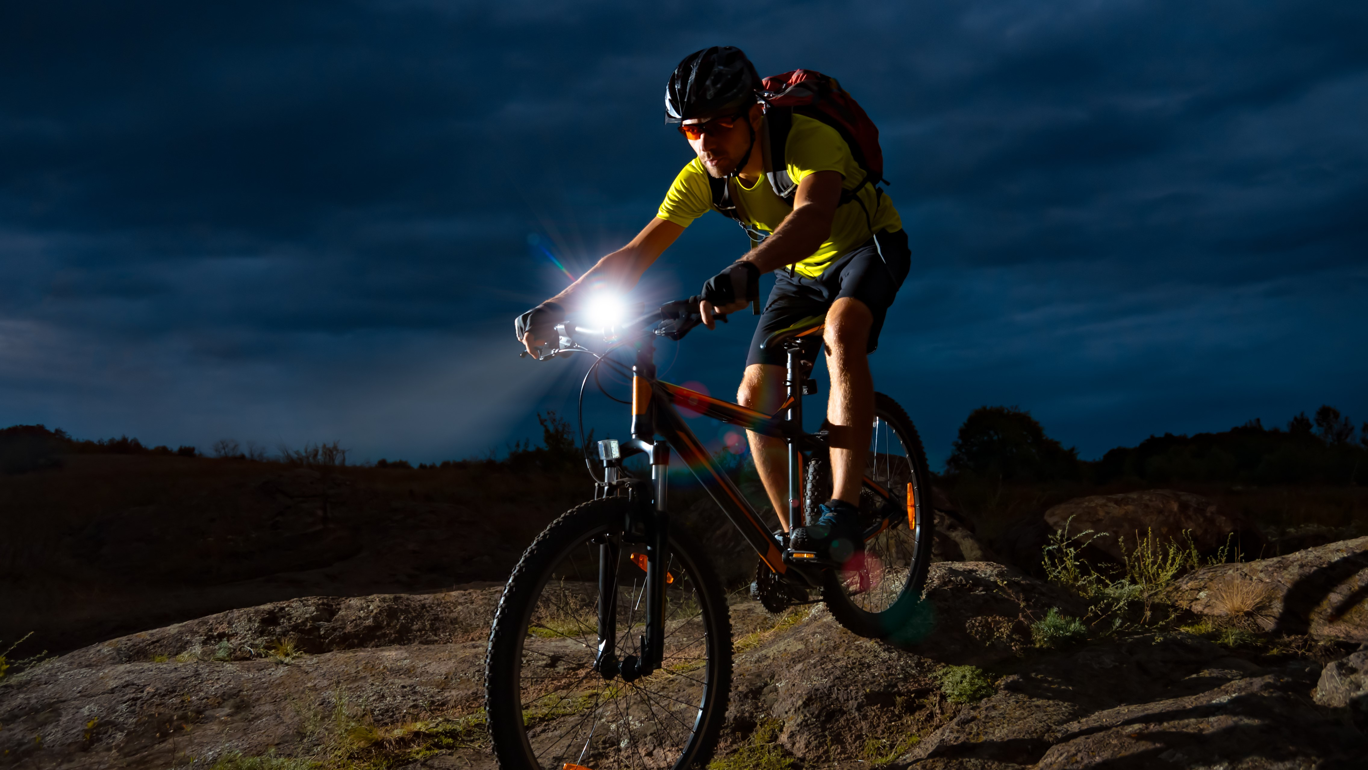 front rear led lights set bright lamp led road city bike cycle UK STOCK