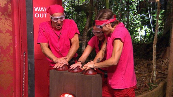 The Pink team take part in the Immunity Challenge