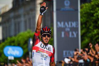 Juan Sebastian Molano of UAE Team Emirates wins stage 1 at Il Giro di Sicilia 2021