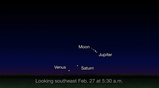 See Jupiter with the Moon Before Dawn Wednesday (Venus and