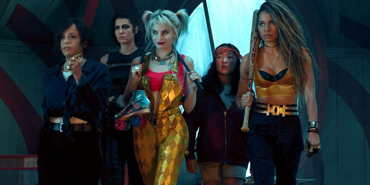Birds Of Prey Harley and her crew marching into battle