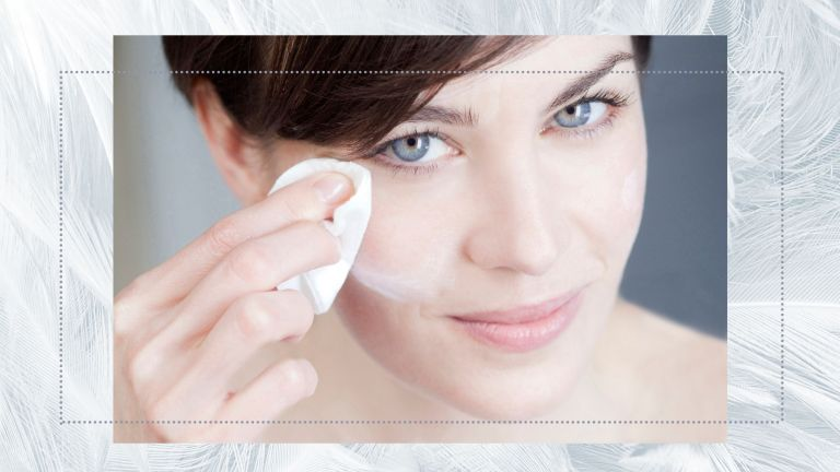 skincare routine for sensitive skin woman removing makeup