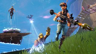 Fortnite Battle Royale with the ring closing in and taking people out