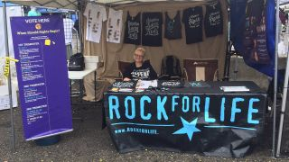 A picture of Rock For Life's tent on the Vans Warped Tour 2016