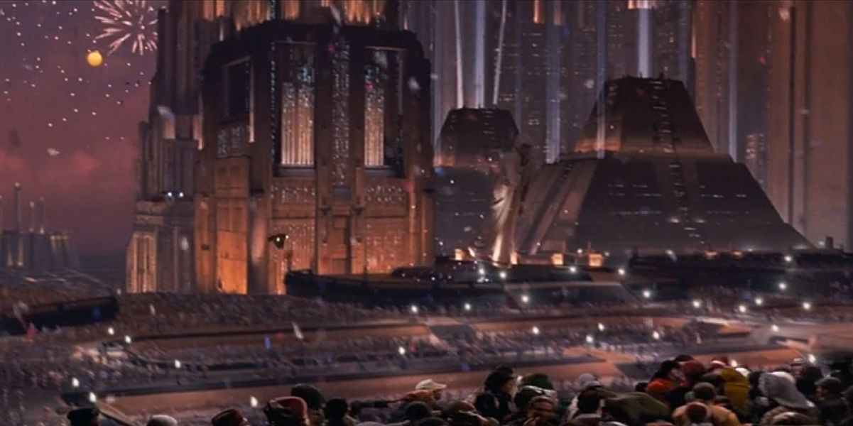 Coruscant from Star Wars The Return of the Jedi