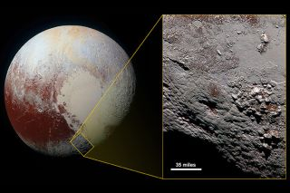 Wright Mons cryovolcano on Pluto
