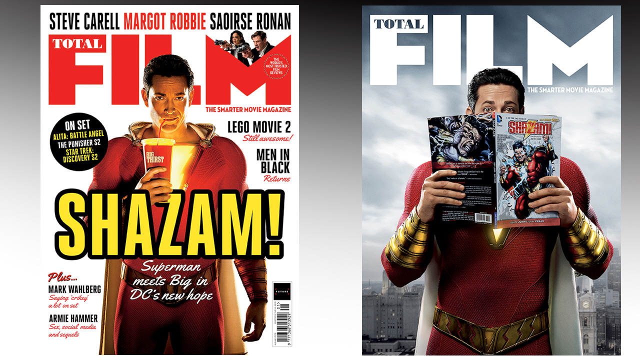 Shazam Flies Onto The Cover Of Total Film Magazines New Issue On