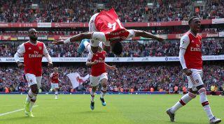 Arsenal Auba celebration